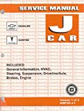 Chevrolet Cavalier, Pontiac Sunfire Service Manual: J Car - Volume 1 of 2 GMP/05-J-1, includes: General Information, HVAC, Steering, Suspension, Driveline/Axle, Brakes, Engine