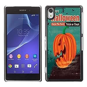 Dragon Case - FOR Sony Xperia Z2 - Happy Hallowen party - Caja protectora de pl??stico duro de la cubierta Dise?¡Ào Slim Fit