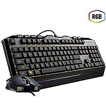 Kit Teclado e Mouse Gamer Cooler Master Devastator lll - LED - 2400dpi - SGB-3000-KKMF1-BR