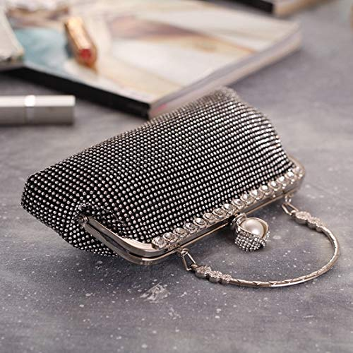 Small bag Color BLACK Female New American Rhinestone Package Fly Handbags European Black And Bag Cool Cool evening Fashion Party Evening 2018 Square Bag Package Diamond Ogwqqnx1B