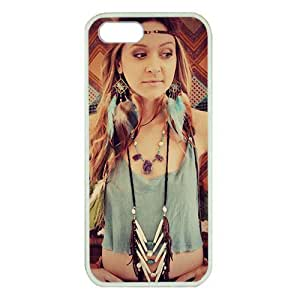 Case For HTC One M7 Cover ,fashion durable White side design phone case, Hard shellmaterial phone cover ,with Earrings feathers in hair girl.