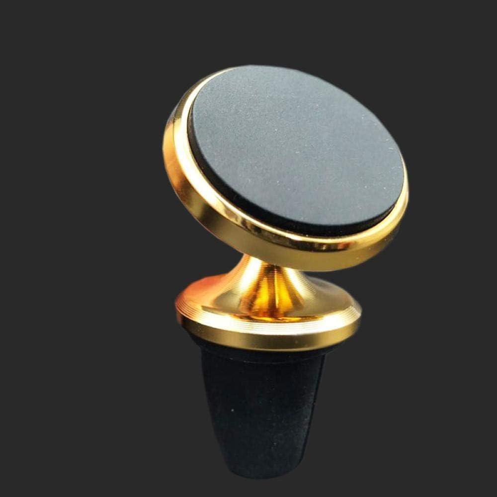 Soporte Móvil Coche Porta Movil Para Soporte De Navegación Para Teléfono De Coche De Silicona Con Salida De Aire-Dorado