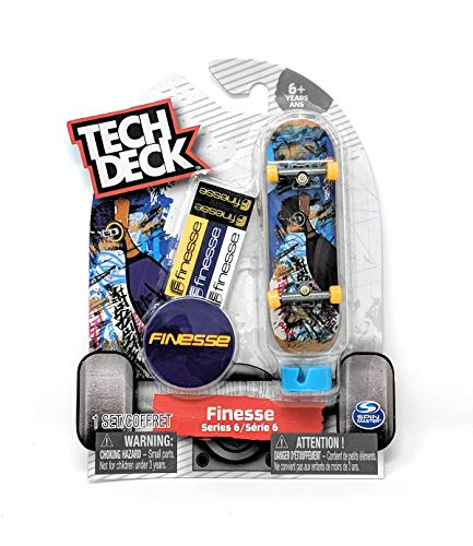 Tech Deck Finesse Skateboards Series 6 Purple Skater with Headphones Fingerboard and Stickers