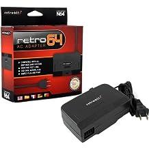 Retro-Bit AC Power Adapter-Black, Nintendo 64