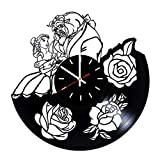Everyday Arts Beauty and The Beast Design Vinyl Record Wall Clock - Get Unique Bedroom or Garage Wall Decor - Gift Ideas for Friends, Brother - Darth Vader Unique Modern Art