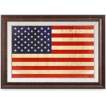DecorArts   American Flag. Giclee Printu0026 Brown Framed Art For Wall Decor.  24x16 Part 51