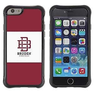 Suave TPU GEL Carcasa Funda Silicona Blando Estuche Caso de protección (para) Apple Iphone 6 / CECELL Phone case / / university brand maroon logo student /