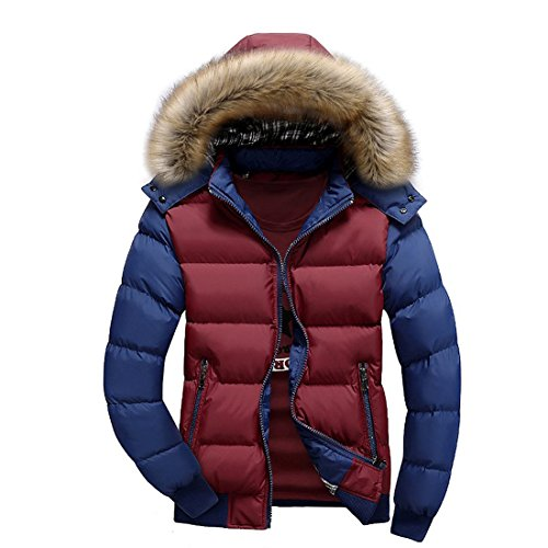 Susanny-Mens-Winter-Casual-Outwear-Fur-Hooded-Qulited-Cotton-Down-Jacket