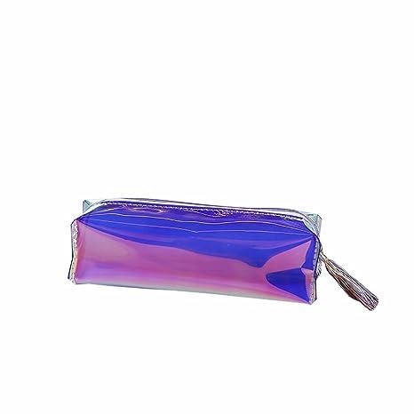 HugeDE Chica Laser transparente plástico estuche Estuche ...