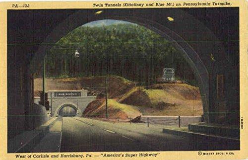 (Twin Tunnels On Pennsylvania Turnpike Pennsylvania Turnpike Original Vintage Postcard)