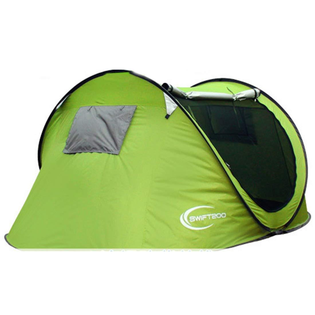 Ploekgda 4 Personen oder 3 Personen automatische Zelt für Outdoor Camping (blau) (Farbe : Grün)