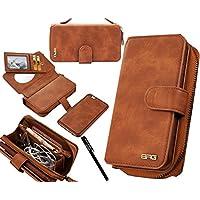 Urvoix iPhone 6 Plus / iPhone 6S Plus Case, Premium Leather Zipper Wallet Multi-functional Handbag Detachable Removable Magnetic Case with Flip Card Holder Cover for iPhone6 Plus/6S Plus(5.5)