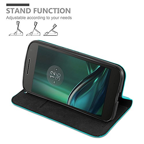 Cadorabo - Funda Book Style Cuero Sintético en Diseño Libro para Motorola MOTO G4 (No apropiado para G4 Play)