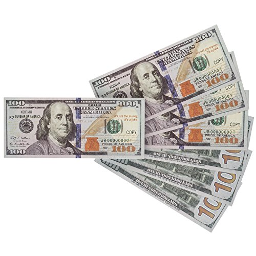 Saltov 100 dollar bill Prop money Copy, Set of 80
