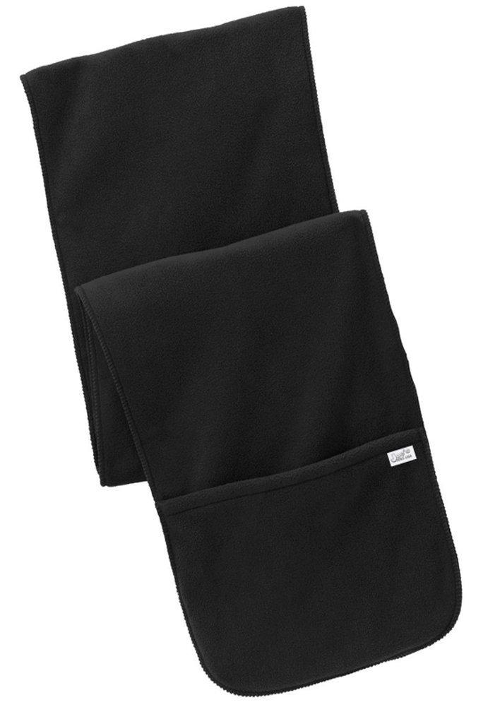 Joe's USA Soft & Cozy Extra Long Fleece Scarf with Pockets