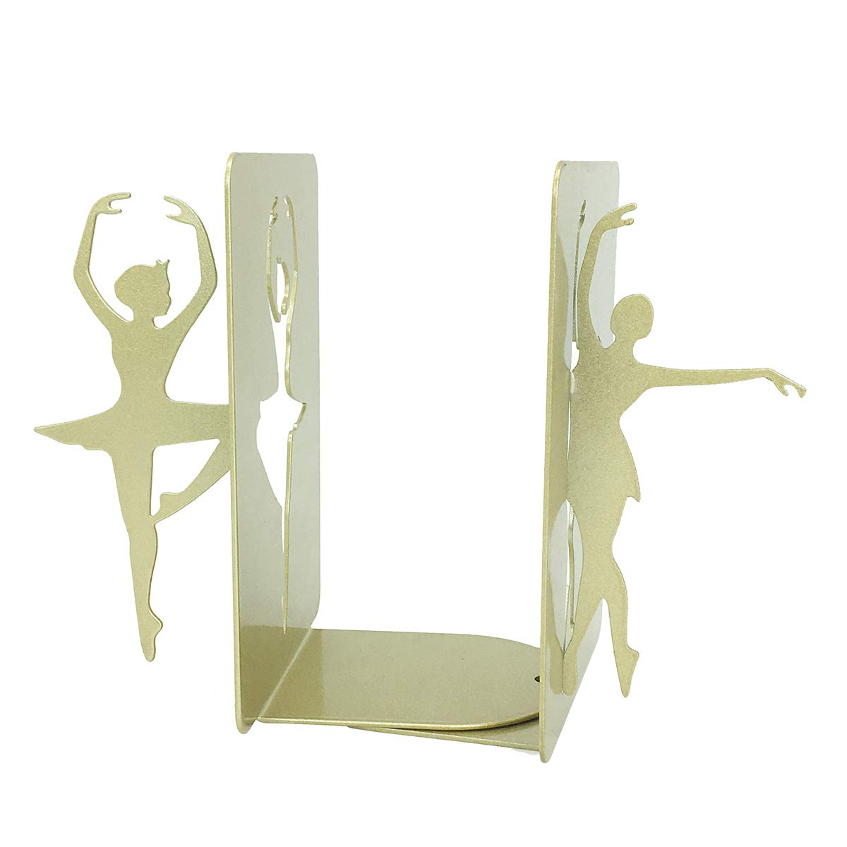 PandS Style A Gold Ballerina Bookends. Heavy Duty Iron. for Home, Office and Dance Studio.