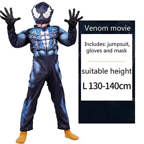 MSSJ Simbionte Spiderman Venom Disfraz Traje Mono máscara niños ...