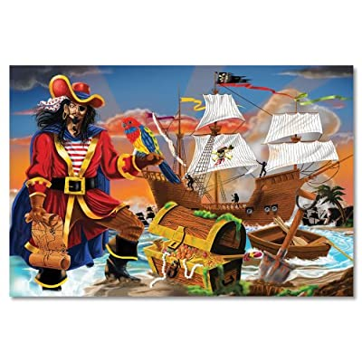 Melissa & Doug Pirate's Bounty Jumbo Jigsaw Floor Puzzle (100 pcs, 2 x 3 feet): Melissa & Doug: Toys & Games