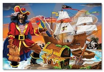 Amazoncom Melissa Doug Pirates Bounty Jumbo Jigsaw Floor - Melissa and doug floor puzzle