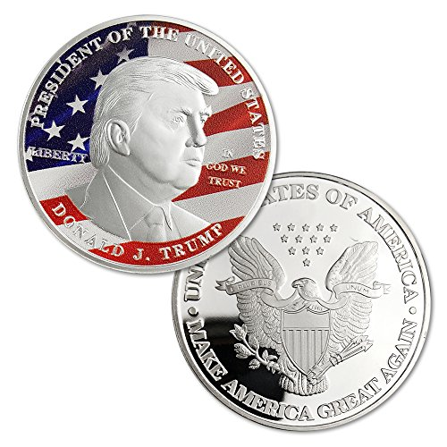 President Donald Trump Silver Commemorative Novelty Coin (Commemorative Novelty)