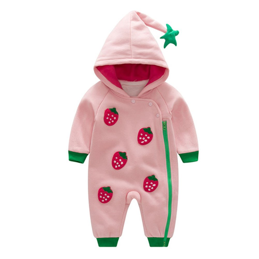 Newborn Infant Baby Boy Girl Romper Hooded Jumpsuit Bodysuit Toddler Outfits