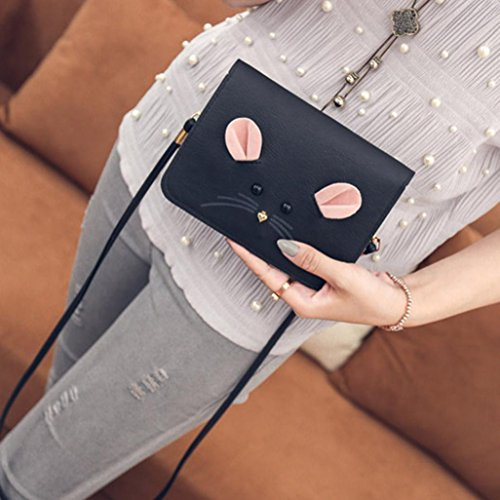 Fashion Satchel Women Girl Body Black Handbag Cross Mini Mouse GBSELL Shoulder zIxwd4ZnxA