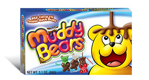Muddy Bears Chocolate Covered Gummi Bears, 3.1 Ounce (Pack of -