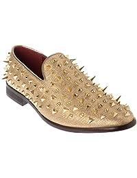 Shoes Picker sparko09 Mens Slip-On Fashion-Loafer Sparkling-Glitter Dress-Shoes