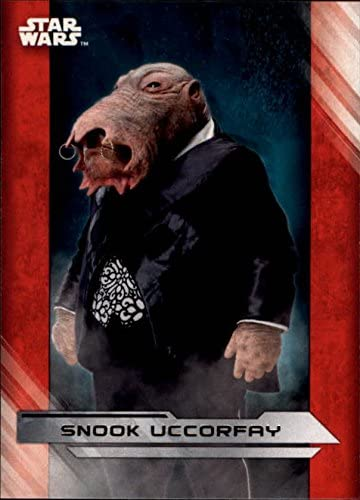 2017 TOPPS STAR WARS THE LAST JEDI SNOOK UCCORFAY TRADING CARD #37