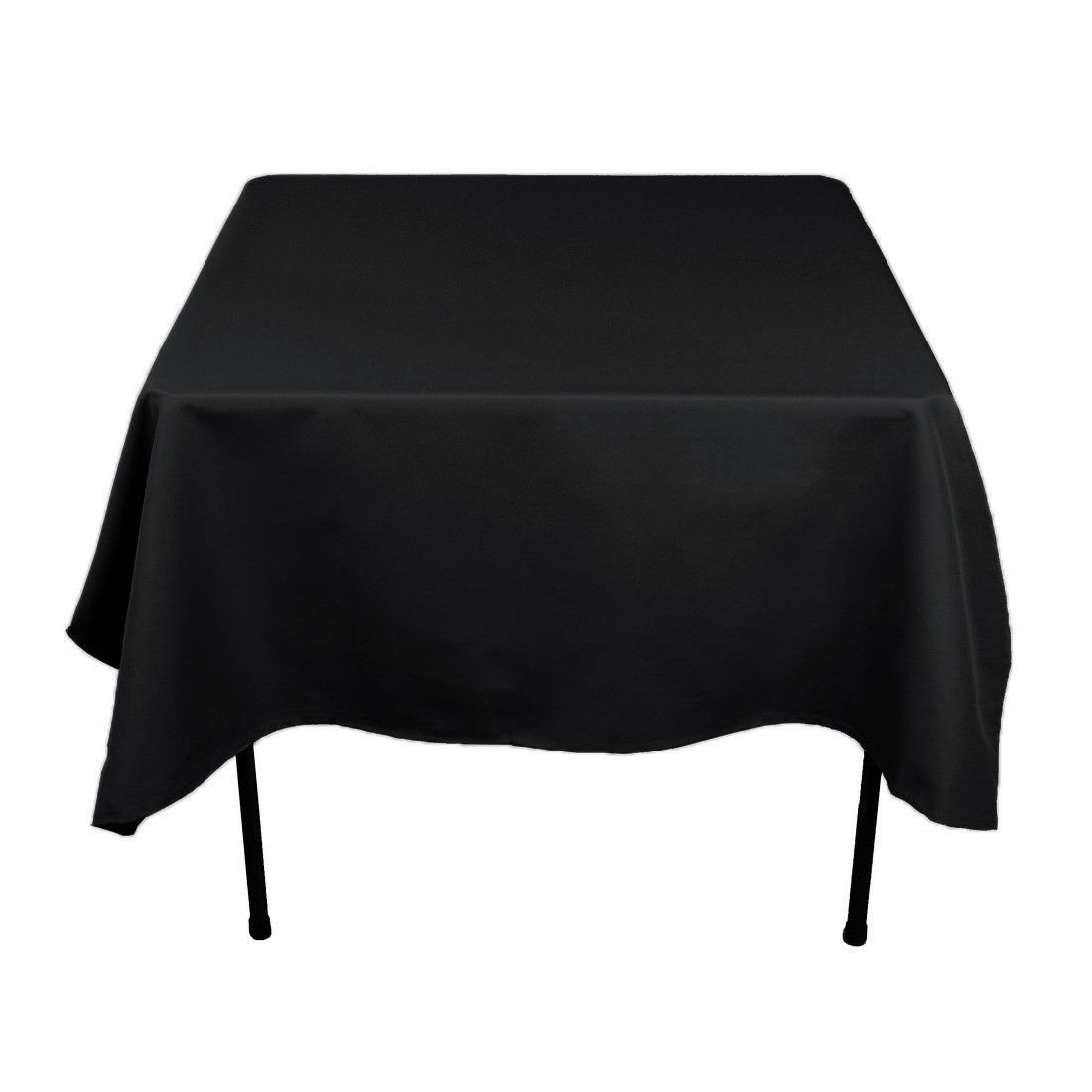 Gee Di Moda Square Tablecloth - 70 x 70 Inch - Black Square Table Cloth for Square or Round Tables in Washable Polyester - Great for Buffet Table, Parties, Holiday Dinner, Wedding & More