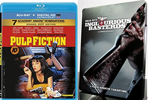 Pulp Fiction & Inglorious Basterds Limited Edition Steelbook [Blu-ray] Quentin Tarantino Set