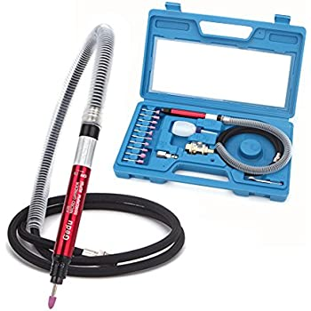 """Gedu 1/8"""" Air Micro Grinder, Pneumatic Micro Air Pencil Die Grinder Polishing Tool Kit"""