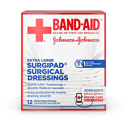 (BAND-AID Surgipad Surgical Dressings Extra Large 5 in x 9 in - 12 each)
