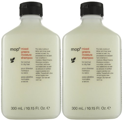 MOP Shampoo for Normal to Dry Hair - Mixed Greens - 10 oz - 2 pk by MOP