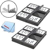 24 ranuras, tarjetas de memoria SD /SDHC Estuches de plástico duro + Paño de microfibra Tronixpro