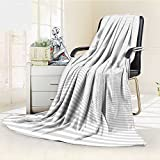 AmaPark Luminous Microfiber Throw Blanket Horizontal Lines Stripes Pattern or Background with Wavy Curving Distortion Glow in The Dark Constellation Blanket, Soft and Durable Polyester(60''x 50'')