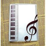 A4 Size,40 Pockets,Sheet Music Folder Files Documents Folder (Transparent)
