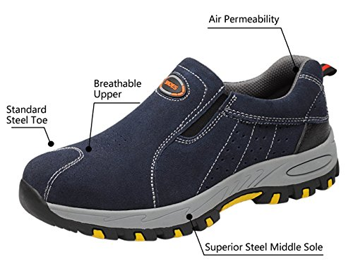 Industrial Work for Toe Steel Footwear Mens Blue02 Sneaker Athletic Safety Shoes nx8Za