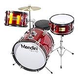 Mendini 3-Piece 16-Inch Junior Drum Set, Metallic Bright Red - MJDS-3-BR