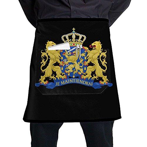 Coat Of Arms Netherlands Unisex Fashion Pocket Waist Apron Restaurant Waitress Waiter Half Bistro Aprons Netherland Coat Of Arms
