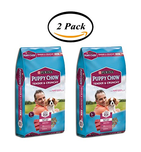 PACK OF 2 - Purina Puppy Chow Tender and Crunchy Puppy Food 32 lb. Bag by Purina