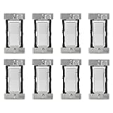 Leviton DZ1KD-1BZ Decora Smart 1000W Dimmer with Z-Wave Plus Technology, Works with Amazon Alexa (8 Pack)