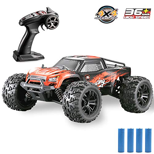GMAXT Rc Cars G174 Remote Control Car,1/16 Scale 36km/h,2.4Ghz 4WD High Speed Off-Road Vehicles with 2 Rechargeable Batteries,Give The Child Best Choice