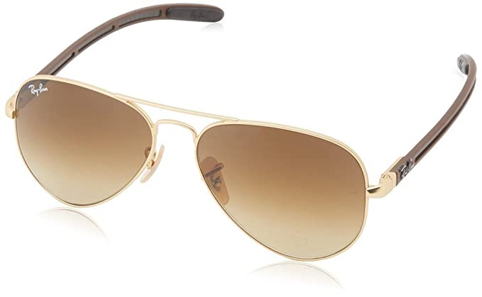 c800b431791 Image Unavailable. Image not available for. Colour  Ray Ban RB8307 112 85  58mm Matte Gold Brown Gradient ...