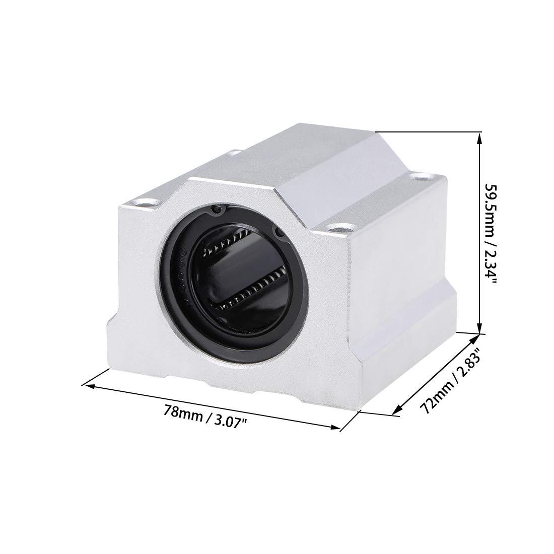 sourcing map 6mm Linear Ball Bearing SCS6UU Slide Block Units 6mm Bore