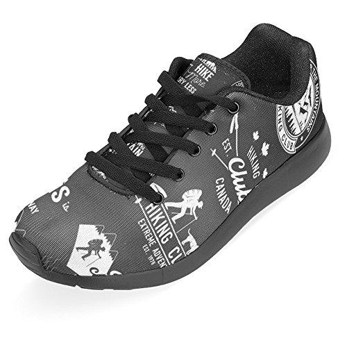 Interestprint Kvinna Jogging Kör Sneaker Lättvikts Gå Gång Casual Komfort Löparskor Vandring Klubb Märken Bergen Citerar Multi 1