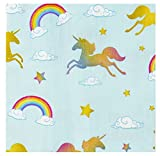 Cocktail Napkins - 150-Pack Luncheon Napkins, Disposable Paper Napkins Unicorn Party Supplies for Kids Birthdays, 3-Ply, Unfolded 13 x 13 inches, Folded 6.5 x 6.5 inches
