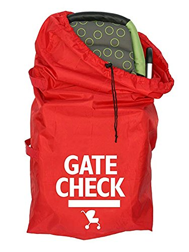 Gate Check Travel Bag with Webbing Handle for Standard and Double Strollers, Red #81559 by Beststar