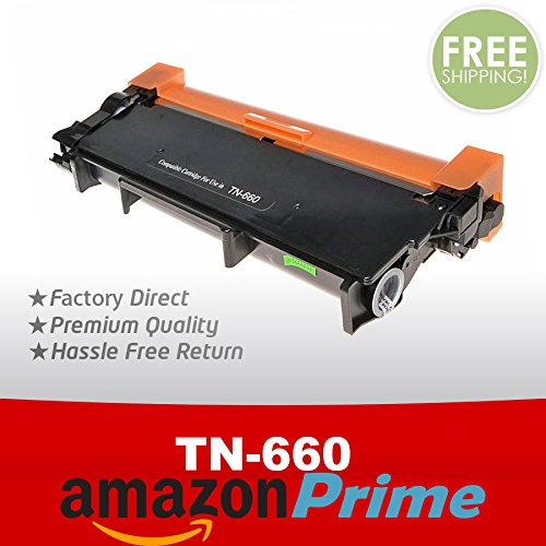 Brother Compatible TN660 TN-660 High Capacity Toner Cartridge - FREE SAME DAY USPS PRIORITY MAIL - Time Mail Shipping Usps Priority