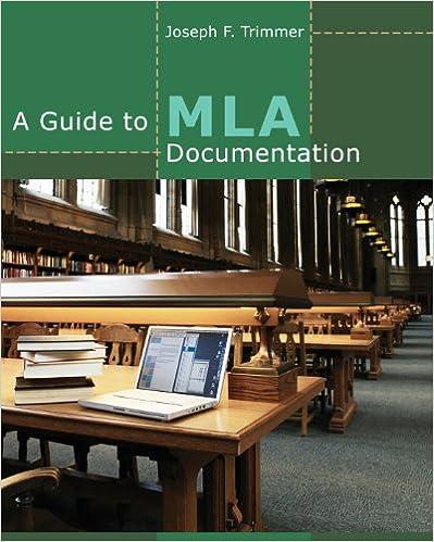 amazon com a guide to mla documentation ebook joseph f trimmer